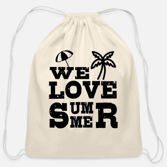 Beachparty Bags & Backpacks - Summer - Cotton Drawstring Bag natural