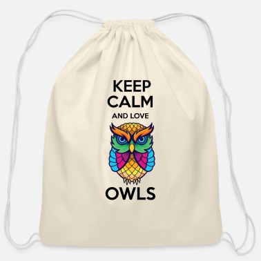 Owl Awesome Cute Owl Lover Quotes - Cotton Drawstring Bag
