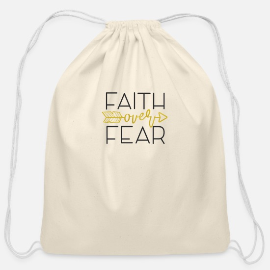 Bible Bags & Backpacks - INSPIRATIONAL CHRISTIAN BIBLE VERSE product - - Cotton Drawstring Bag natural
