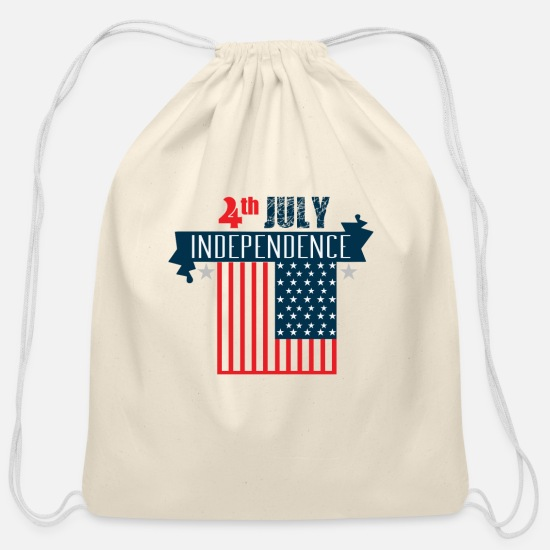 Birthday Bags & Backpacks - 4 th july transeprent - Cotton Drawstring Bag natural