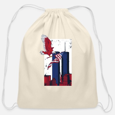World Trade Center 11th september twin towers memorial T-Shirt - Cotton Drawstring Bag