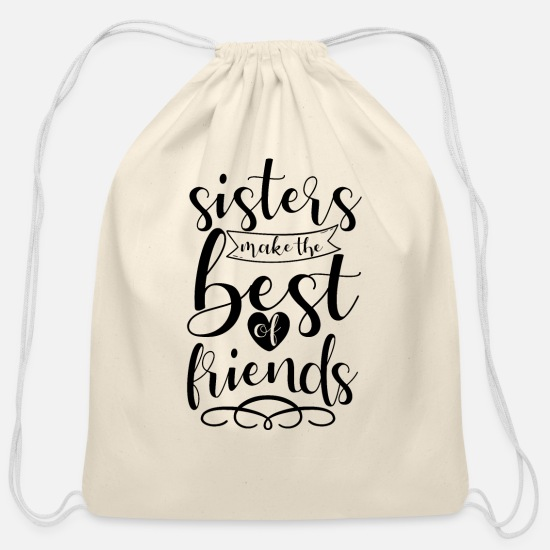 Bff Bags & Backpacks - Sister - Cotton Drawstring Bag natural