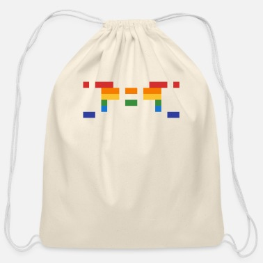 16bit Invader from Space: 16-bit, normal length, wide UF - Cotton Drawstring Bag