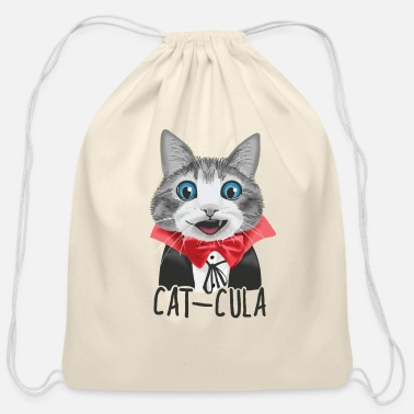 Little Cat-Cula - Cotton Drawstring Bag