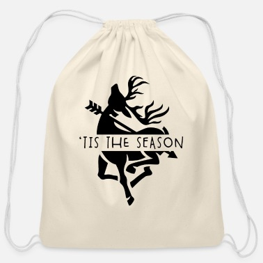 Archery Bow Hunting Gear Vintage Tis The Season Deer - Cotton Drawstring Bag