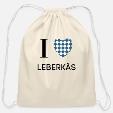Sausage I LOVE LEBERKÄS HEART GIFT LEBERKÄSE GERMAN - Cotton Drawstring Bag