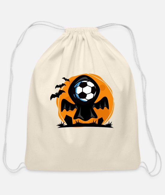Die Bags & Backpacks - Soccer Halloween - Cotton Drawstring Bag natural