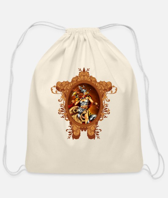 Honor Bags & Backpacks - LION EQUESTRIAN - Cotton Drawstring Bag natural
