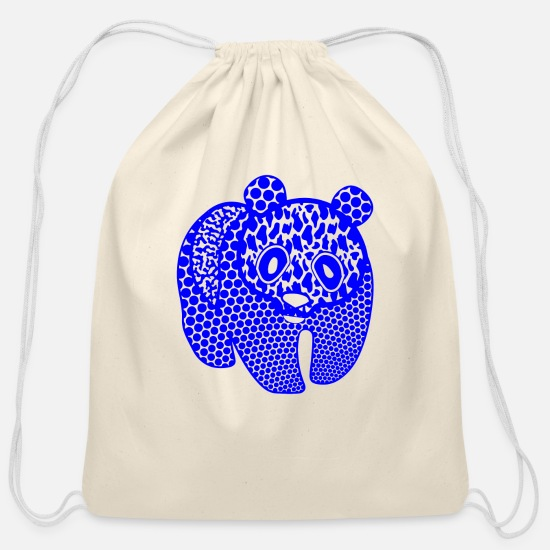 Grizzly Bags & Backpacks - GIFT - PANDA BLUE - Cotton Drawstring Bag natural
