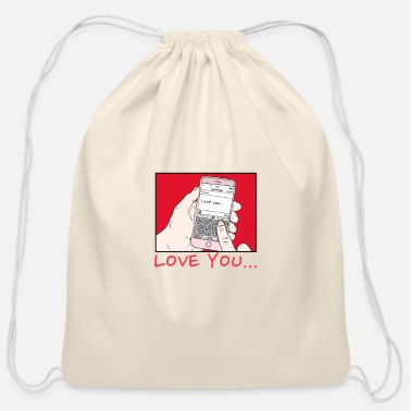 Love You love you - Cotton Drawstring Bag