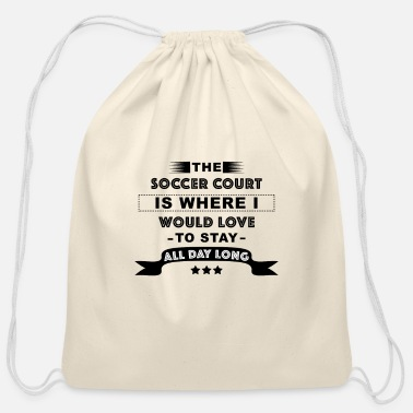 Football Field Soccer Field - Football Pitch - Cotton Drawstring Bag
