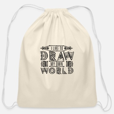 Draw Drawing Artist Paint Drawer Painting Draw - Cotton Drawstring Bag