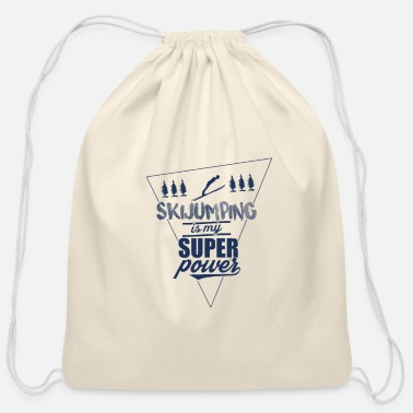 Ski Jumping Ski Jumping - Cotton Drawstring Bag