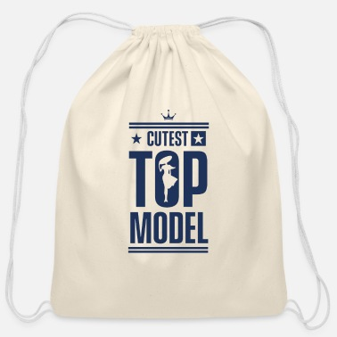 Model Modeling Modeling Modeling Modeling - Cotton Drawstring Bag