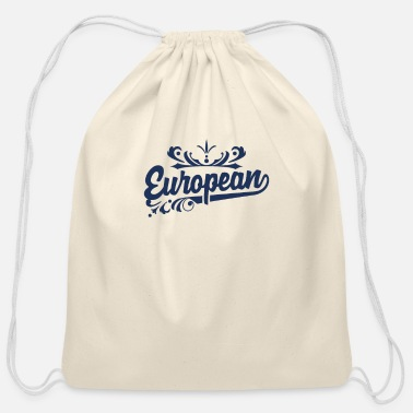 Europe Europe Europe Europe Europe - Cotton Drawstring Bag
