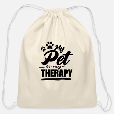 Pet Pet Pet Pet Pet - Cotton Drawstring Bag