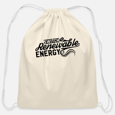 Renewable Renewable Energy Renewable Energy - Cotton Drawstring Bag