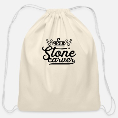 Stone Carving Stone Carve - Cotton Drawstring Bag