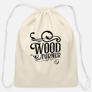 Turn Woodturning Turn Timber Wood Turning - Cotton Drawstring Bag