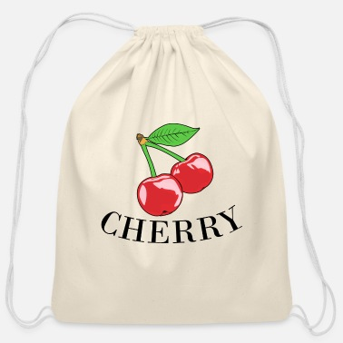 Cherry Cherry cherry - Cotton Drawstring Bag