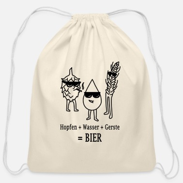 Barley Hop + water + barley = BEER - Cotton Drawstring Bag