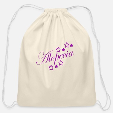 Alopecia Areata Alopecia Areata Stars - Cotton Drawstring Bag
