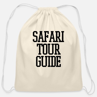 Safari Funny Safari Tour Guide - Cotton Drawstring Bag