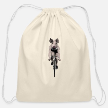 Mashup Pigcycle Vintage Mashup - Cotton Drawstring Bag