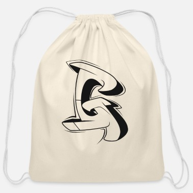 Graffiti G Graffiti letters initial alphabet gift - Cotton Drawstring Bag