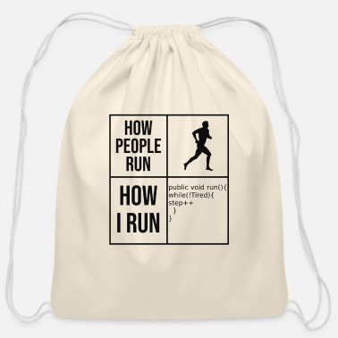 Program How? Programmer Computer Science Code Html Gift - Cotton Drawstring Bag