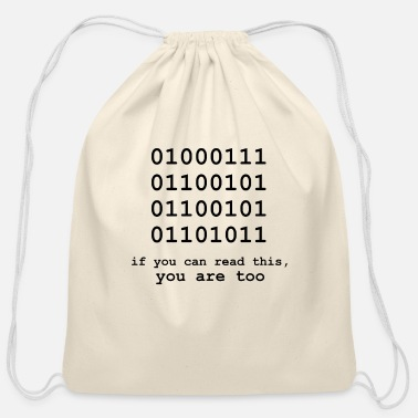 Computer Computer science Programmer Code Humorous Gift - Cotton Drawstring Bag