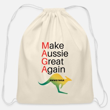 Make Aussie Great Again - Cotton Drawstring Bag