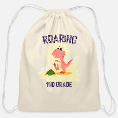 Dinosaurs Back To School Dinosaurs - Cotton Drawstring Bag