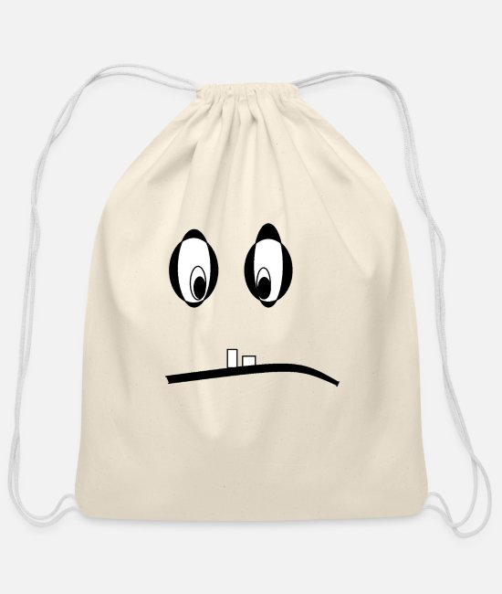 Emoticon Bags & Backpacks - Monster-Emotion - Cotton Drawstring Bag natural