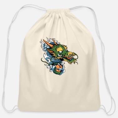 Japanese Dragon Japanese Dragon - Cotton Drawstring Bag