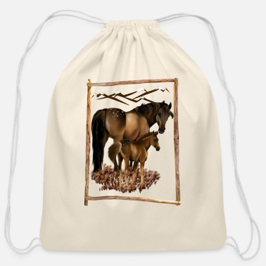Mare Mare and Baby - Cotton Drawstring Bag