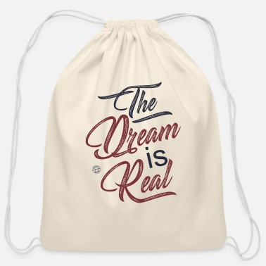 Jeopard The dream is real - Cotton Drawstring Bag