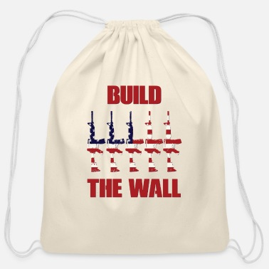 Wall BUILD THE WALL - Cotton Drawstring Bag