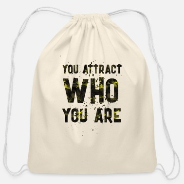 Attractive You attract - Cotton Drawstring Bag