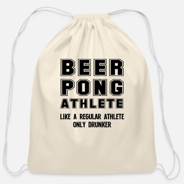 Funny Beer Pong Funny Beer Pong Player Beer-Pong College Party - Cotton Drawstring Bag