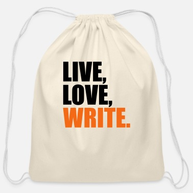 Writing write - Cotton Drawstring Bag