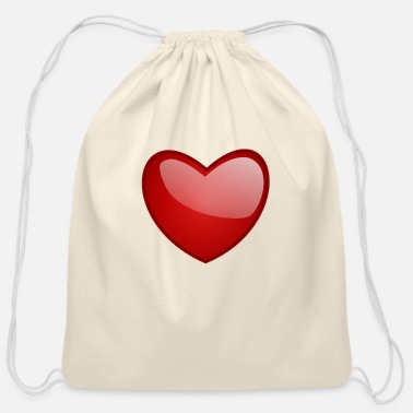 80kingz Red Heart Shine 80kingz - Cotton Drawstring Bag