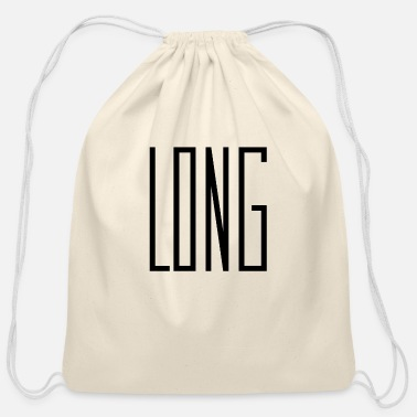 Long long words that are long. - Cotton Drawstring Bag