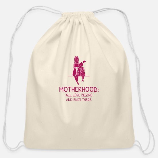 With Bags & Backpacks - Mother Hood - Cotton Drawstring Bag natural