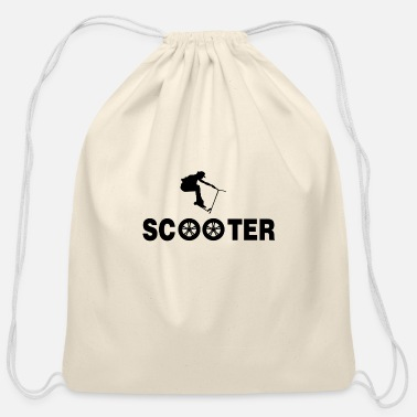 Scooter Scooter scooter electric scooter e-scooter gift - Cotton Drawstring Bag