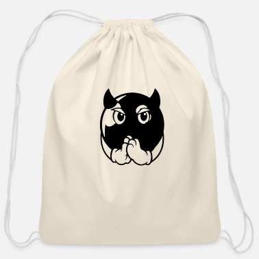 Cards devil ball - Cotton Drawstring Bag