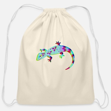 Luscious Lizard - Cotton Drawstring Bag