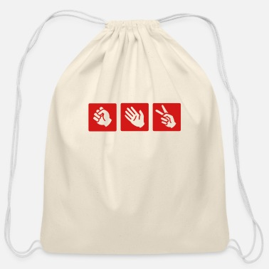Popular rock - paper- scissors - Cotton Drawstring Bag