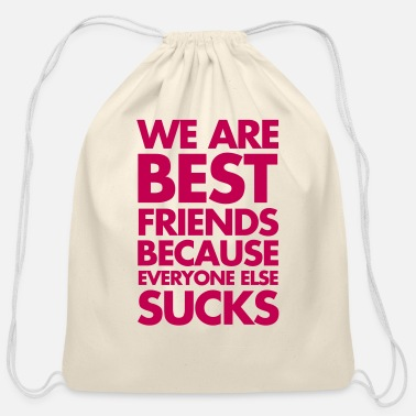 Friends Best Friends - Cotton Drawstring Bag