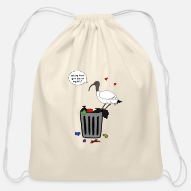 Xmas Bin Chicken - Cotton Drawstring Bag